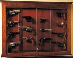 Perfect Amish Made Custom Pistol Display Case