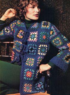 Crochet En Acción: Grannies retro fashion - Retro Granny Jacket   -   FREE ENGLISH PATTERNS