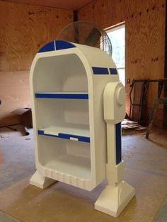 Droide de Star Wars R2D2 estantería mueble de estilo por WoodCurve