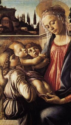 Madonna and Child with Two Angels by Sandro Botticelli, 1468-1469