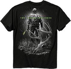 Buck Wear 1420-XL Mens Legend Continues Short Sleeve T-Shirt Black X-Large