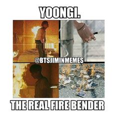 Yoongi is a fire bender guys! #bts