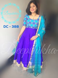 DC - 388 For queries kindly whatsapp: 9059683293 Anarkali Frock, Designer Anarkali Dresses, Saree Dress, Designer Dresses, Anarkali Suits, Designer Wear, Churidar Designs, Kurta Designs Women, Dress Neck Designs