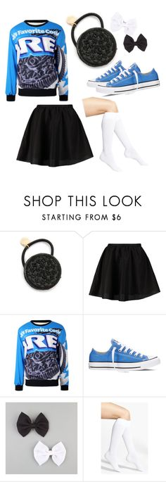 """""""Oreo Babe"""" by pinkiecore ❤ liked on Polyvore featuring Venessa Arizaga, ONLY, Converse, Full Tilt and Nordstrom"""
