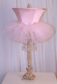 What an absolutely cute idea! For my friends with little girls!!! Cute ballet lamp!