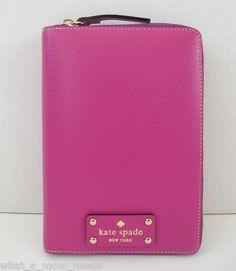 New Kate Spade Wellesley 2013 Purple Zip Around Personal Planner Organizer | eBay