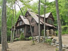 Cabins And Cottages: Cabins - Mountainworks Custom Home Design in Cashi...