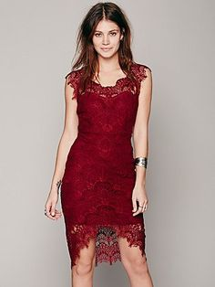 Free People Peekaboo Lace Slip. I am in love with all of the free people dresses, but they are on the pricier end of the spectrum for even me. Still, the cut of this is just beautiful and looks so flattering. For a trip to the opera or Broadway play? Under a fur shrug? Ooh la la.