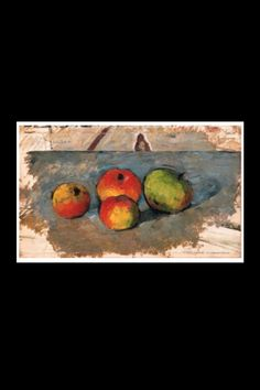 """Paul Cézanne - """"Quatre pommes"""", c. 1880/81 - Huile sur toile - 21,5 x 34,5 cm (*)"""