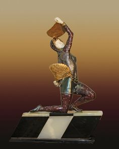 Chiparus Bronze Sculpture Fan Dancer At Auction - Opening Bid $1,000.00  Estimate $16,000.00 to $19,000.00