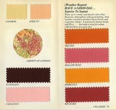 Celanese | Surroundings | 1976.  I worked for them not long after, but not in the textiles division.  Didn't know they made color cards.
