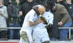 Swansea came from behind to inflict a 2-1 defeat on Manchester United, with Jonjo Shelvey's long-range strike deflecting off Bafétimbi Gomis for the winner