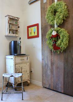 sliding barn dooer - eclectic kitchen by Mina Brinkey