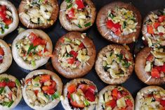 Vegetable and Garlic Stuffed Mushrooms. Gluten-free, nut-free, soy-free, vegan. Super healthy and easy to make.