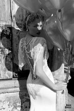 Vestido años 20 de Galia Lahav / 20s-style Galia Lahav dress
