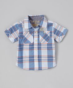 Love this Nautica Tanzanite Plaid Button-Up - Infant, Toddler & Boys by Nautica on #zulily! #zulilyfinds