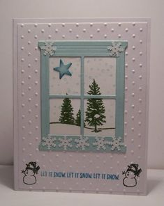 WT550, Let It Snow by snowmanqueen - Cards and Paper Crafts at Splitcoaststampers