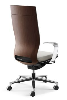 Moteo With Real Walnut Wood Veneer And Designer Armrests.