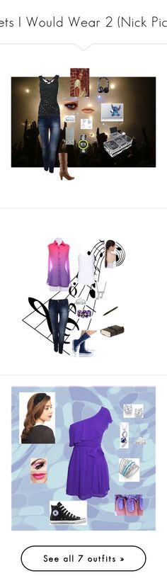 """""""Sets I Would Wear 2 (Nick Pick)"""" by celestial-ringmaster ❤ liked on Polyvore featuring Jane Norman, Lab, Madden Girl, Beats by Dr. Dre, Equipment, C9 by Champion, Music Notes, MANGO, Uni-ball and Rare London"""