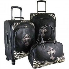 Cute luggage! Love the zebra touch!