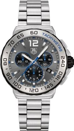 ☼ #watches Tag Heuer Formula 1 Chronograph Grey Dial Stainless Steel Mens Watch CAU1119BA0858 TAG Heuer,