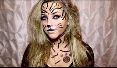 Makeup tiger  Makeup roar of katy Perry song