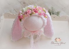 Bunny Ears Headband, Bunny Hat, Diy Headband, Knitting For Kids, Sewing For Kids, Baby Sewing, Crochet Bunny, Crochet Baby Hats, Baby Bonnets