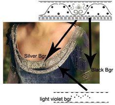 Dresses ~*~:~*~ Arwen ~*~:~*~ Requiem Dress  VERY DETAILED. excellent source