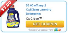 $3.00 off any 2 OxiClean Laundry Detergents. Posted 06/18/2014