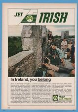 1967 Aer Lingus Irish Airlines Americans kissing the Blarney Stone Ireland ad