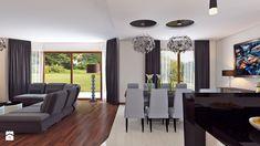 Dom w stylu glamour - Średni salon z kuchnią z jadalnią - zdjęcie od APP TRENDY Autorska Pracownia Projektowa