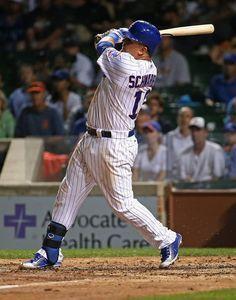 Love for the lefty.Go Cubs! Chicago Cubs Baseball, Baseball Art, Sports Baseball, Baseball Players, Cubs Players, Cubs Team, Mlb Teams, Sports Teams, Kyle Schwarber