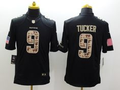 Baltimore Ravens 9 Tucker Black 2014 Nike Salute TO Service Jersey Eric  Weddle b44226e8b
