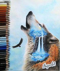 Feed the wolf inside you. Feed the wolf inside you. Tattoos Lobo, Indian Wolf, Wolf Artwork, Wolf Painting, Fantasy Wolf, Wolf Spirit Animal, Wolf Tattoo Design, Wolf Wallpaper, Wolf Love