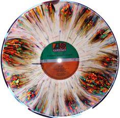 Painted vinyl records