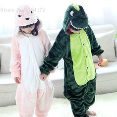 Crianças carton Animal Dinossauro onesies Pijamas meninos meninas Pijamas traje cosplay crianças pijamas crianças sleepwear em Fantasias de meninos de Novidade & Uso Especial no AliExpress.com | Alibaba Group