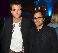 Rob with Gael Garcia Bernal at a party at Cannes 2014