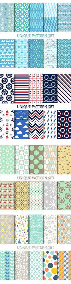 일러스트 패턴디자인 곡선 다양함 무늬 바다 반복 백그라운드 사선 줄무늬 지그재그 특이 패턴 포장지 pattern design variety…