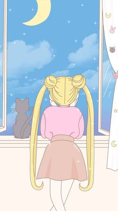 Wallpaper sailor moon serena y luna vista al cielo Sailor Moon S, Sailor Moon Crystal, Sailor Moon Kunst, Wallpapers Kawaii, Kawaii Wallpaper, Pastel Wallpaper, Animes Wallpapers, Cartoon Wallpaper, Pastel Lockscreen