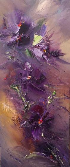 Georgi Petrov ~ Shades, oil on canvas Abstract Flowers, Abstract Art, Arte Floral, Acrylic Art, Fractal Art, Art Oil, Asian Art, Love Art, Art Pictures