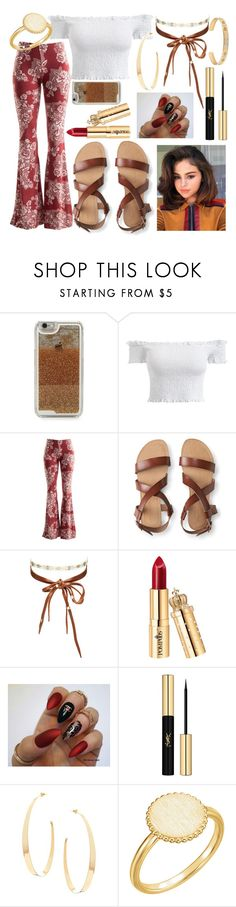 """""""Scarlett O' Hara"""" by bellarina340 ❤ liked on Polyvore featuring LMNT, Fashionomics, Aéropostale, Chan Luu, Yves Saint Laurent, Lana and Gucci"""