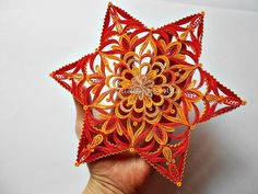 Quilling-Christmas star ornament