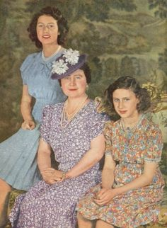 Princess Elizabeth, Queen Elizabeth, Princess Margaret 1944