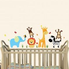 SG Color Me Happy - Mini Jungle Animal Wall Decals