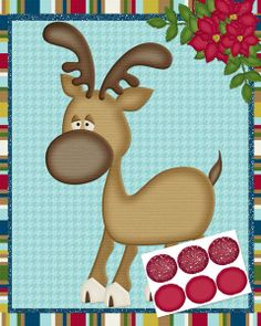 Pin the Nose on Rudolph printable game