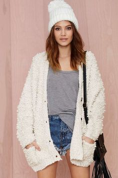 Bouclé All Day Knit Cardigan | Shop Sale at Nasty Gal 54.60