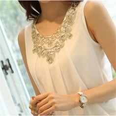 6XL Women Sexy Blouse Shirt Plus Size Summer Elegant Sleeveless White Crochet Lace Shirt Tops For Women Blusas Vest camisa
