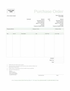 Purchase Order Business Usl Format By Keboto On Creativemarket