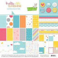 Enter to win the Hello Sunshine Collection from Lawn Fawn!  This super sweet paper and stamp set is perfect for all your summertime scrapbooking needs!  Hurry, contest ends April 15, 2014!