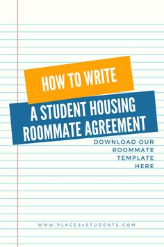 Download A Roommate Agreement Templates  Forms From Our Website